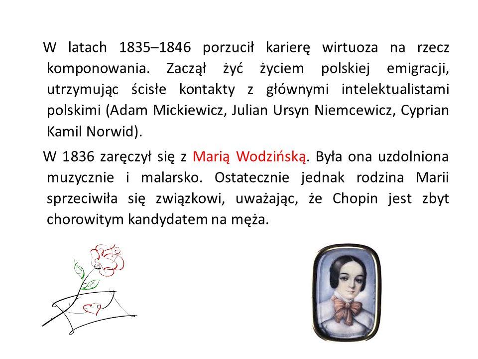 W latach 1835–1846 porzucił karierę wirtuoza na rzecz komponowania