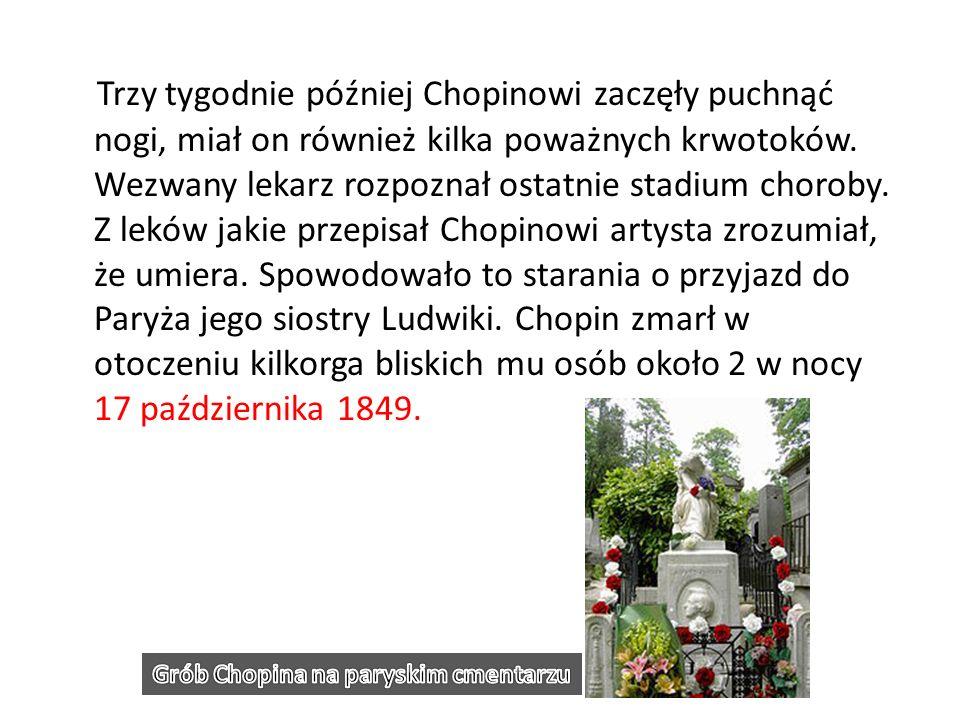 Grób Chopina na paryskim cmentarzu