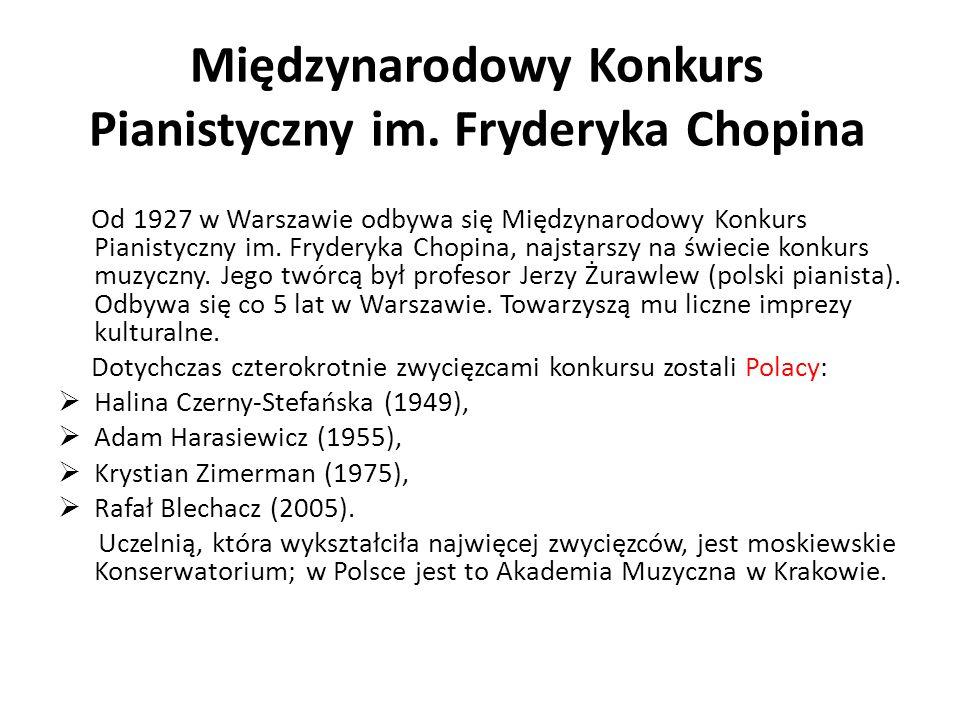 Międzynarodowy Konkurs Pianistyczny im. Fryderyka Chopina