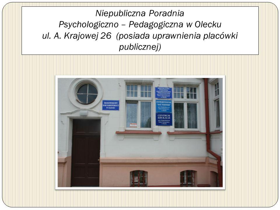Niepubliczna Poradnia Psychologiczno – Pedagogiczna w Olecku ul. A