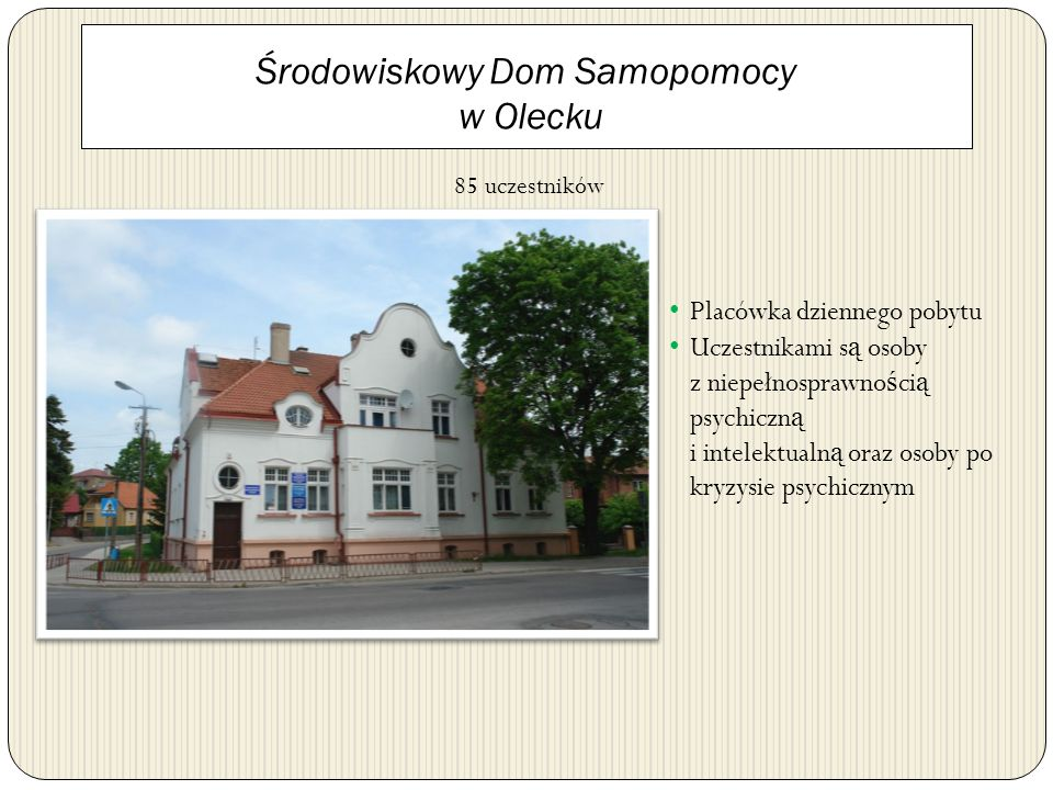 Środowiskowy Dom Samopomocy w Olecku
