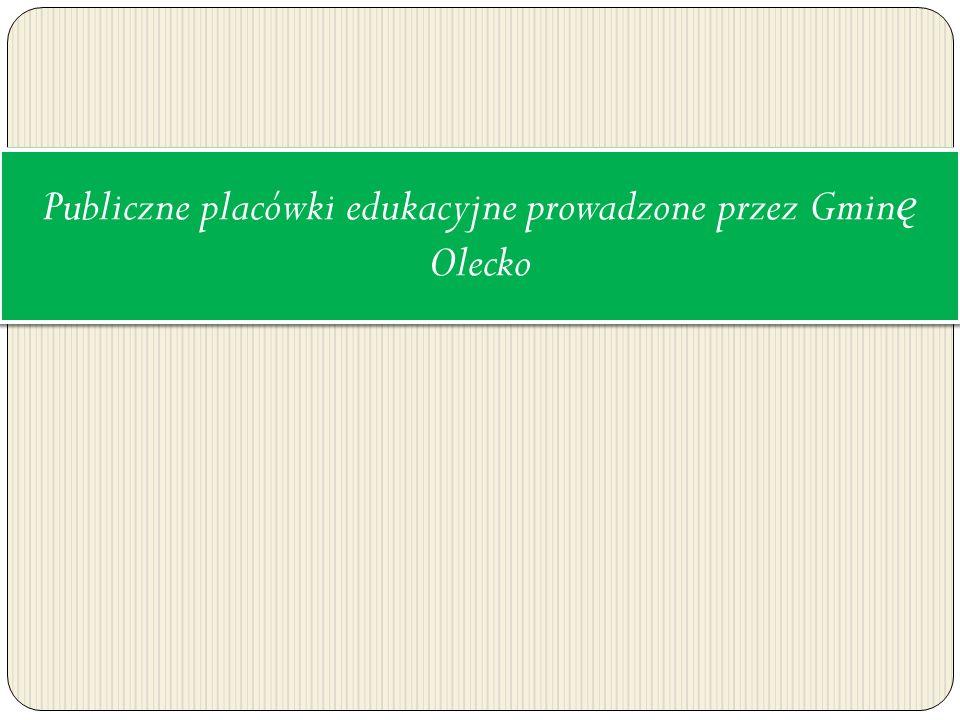 Publiczne placówki edukacyjne prowadzone przez Gminę Olecko