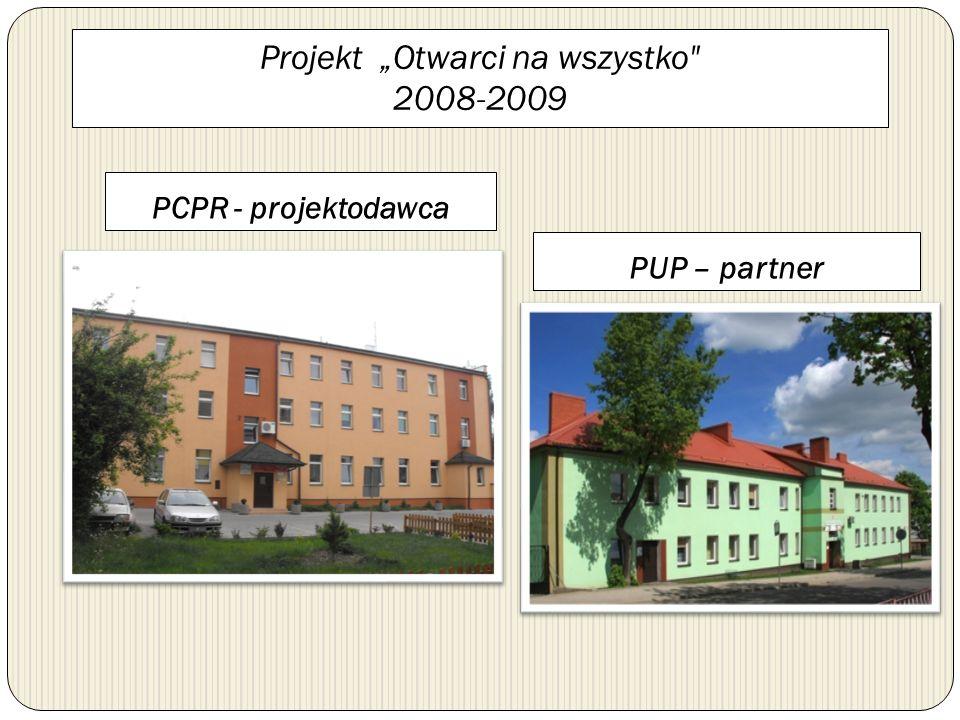 """Projekt """"Otwarci na wszystko 2008-2009"""