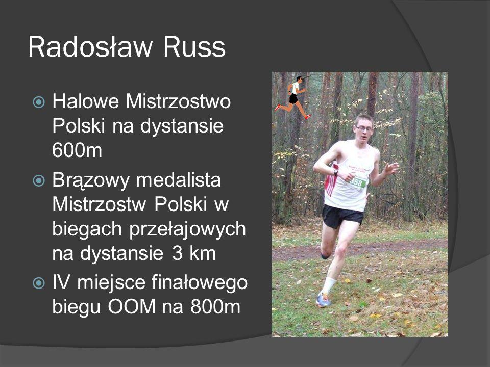 Radosław Russ Halowe Mistrzostwo Polski na dystansie 600m
