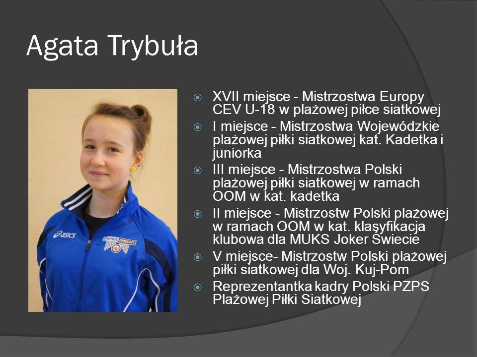 Agata Trybuła XVII miejsce - Mistrzostwa Europy CEV U-18 w plażowej piłce siatkowej.