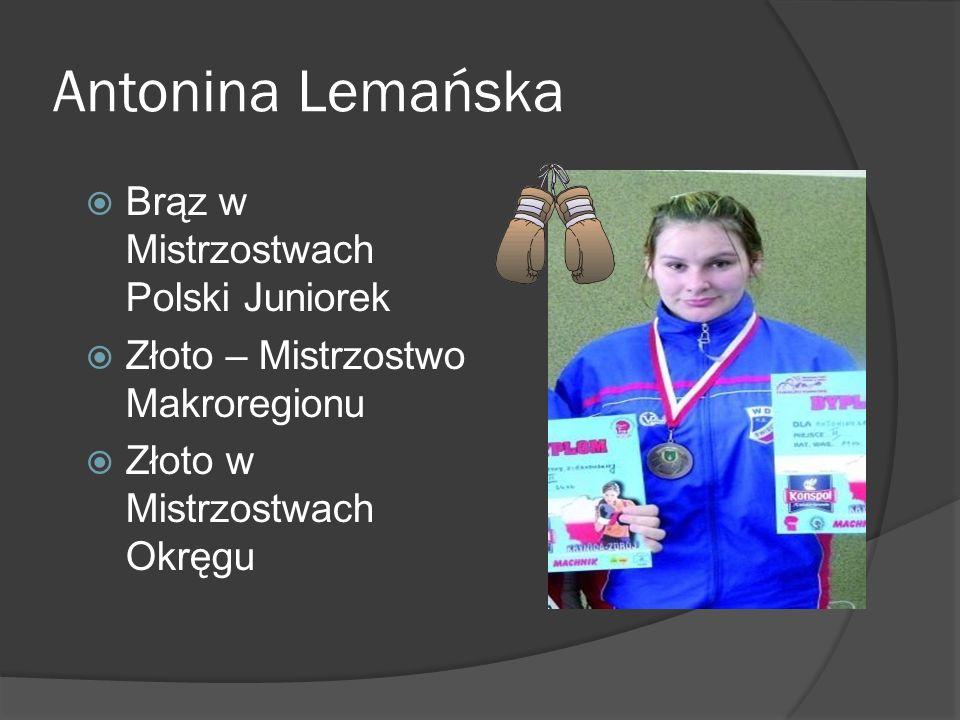 Antonina Lemańska Brąz w Mistrzostwach Polski Juniorek