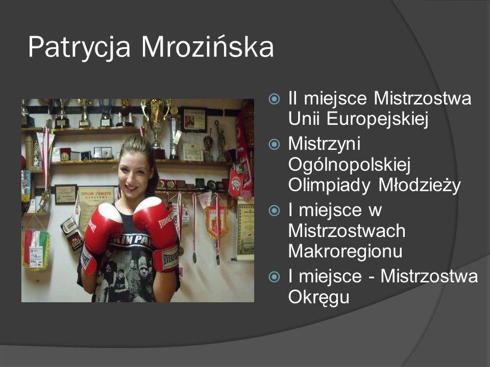 Patrycja Mrozińska II miejsce Mistrzostwa Unii Europejskiej