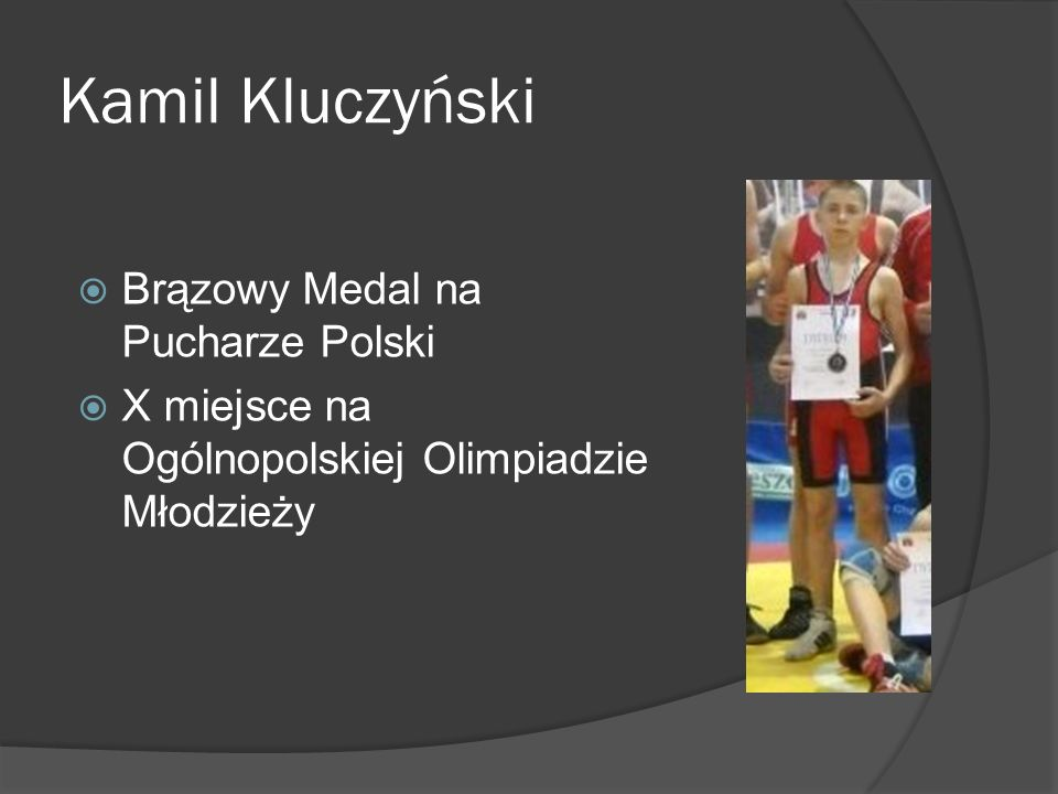 Kamil Kluczyński Brązowy Medal na Pucharze Polski