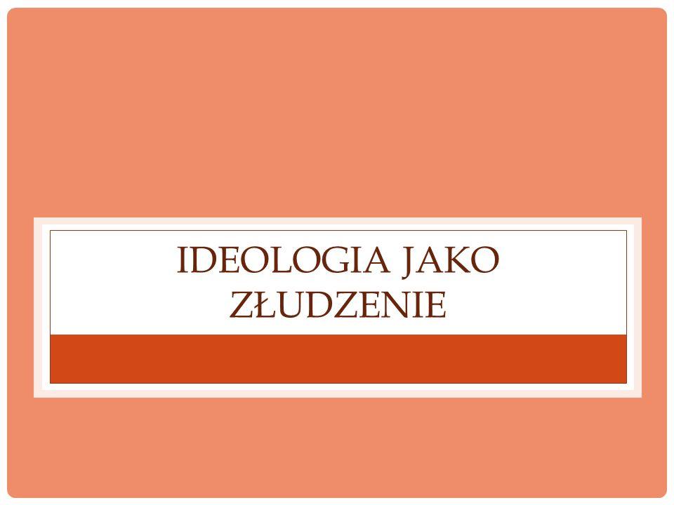 Ideologia jako złudzenie