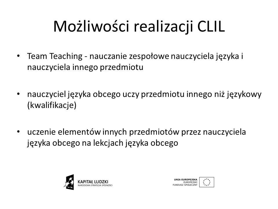 Możliwości realizacji CLIL