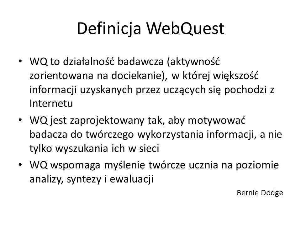 Definicja WebQuest