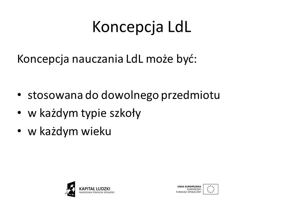 Koncepcja LdL Koncepcja nauczania LdL może być: