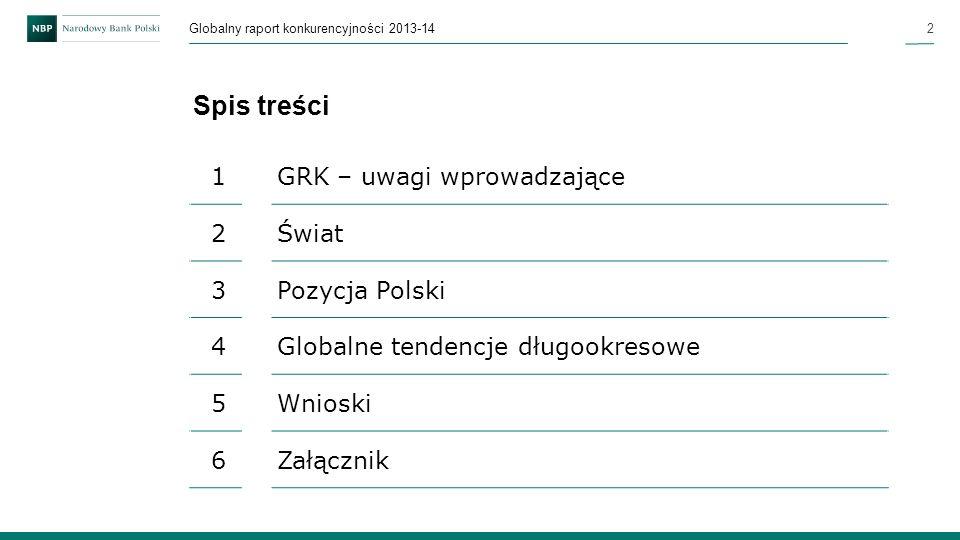Spis treści 1 GRK – uwagi wprowadzające 2 Świat 3 Pozycja Polski 4