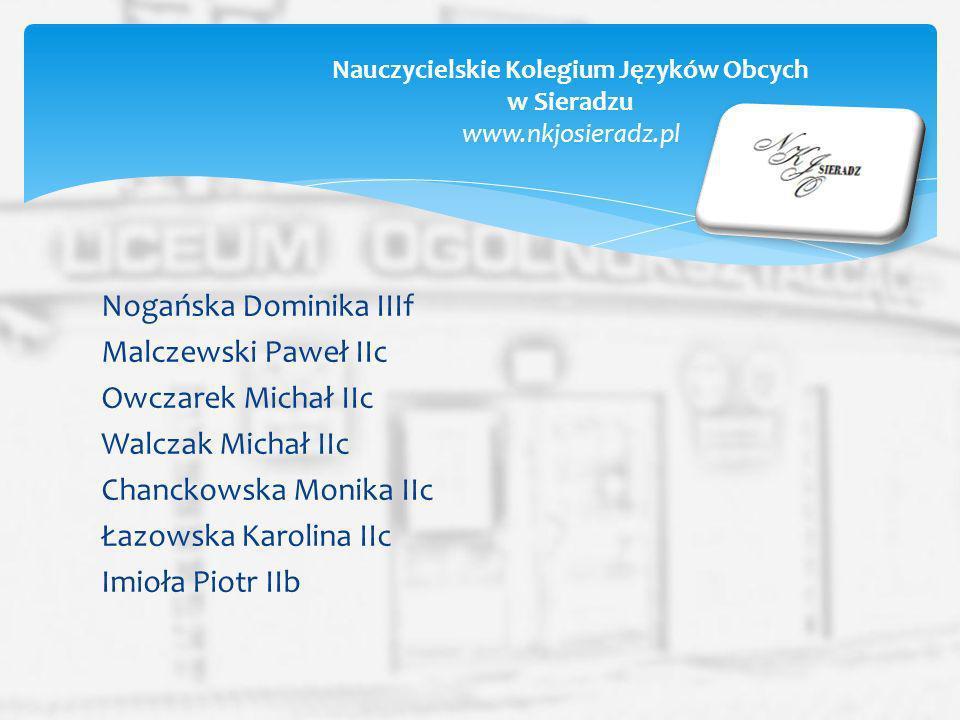 Nauczycielskie Kolegium Języków Obcych w Sieradzu www.nkjosieradz.pl