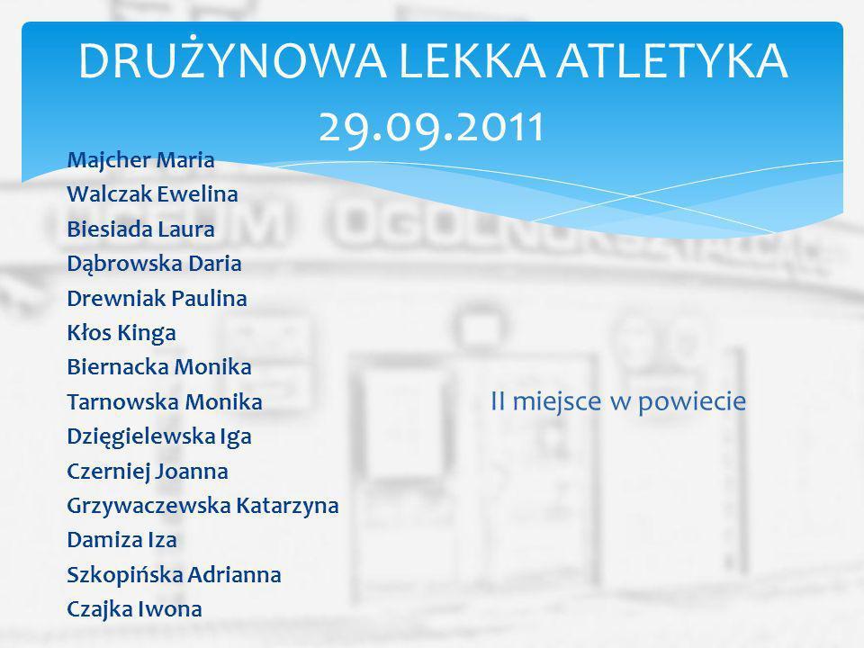 DRUŻYNOWA LEKKA ATLETYKA 29.09.2011