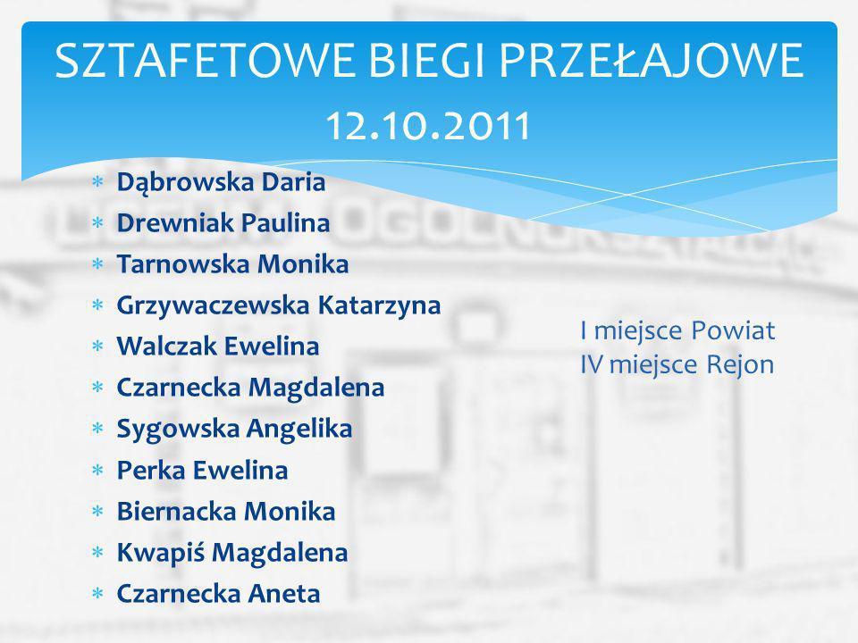 SZTAFETOWE BIEGI PRZEŁAJOWE 12.10.2011