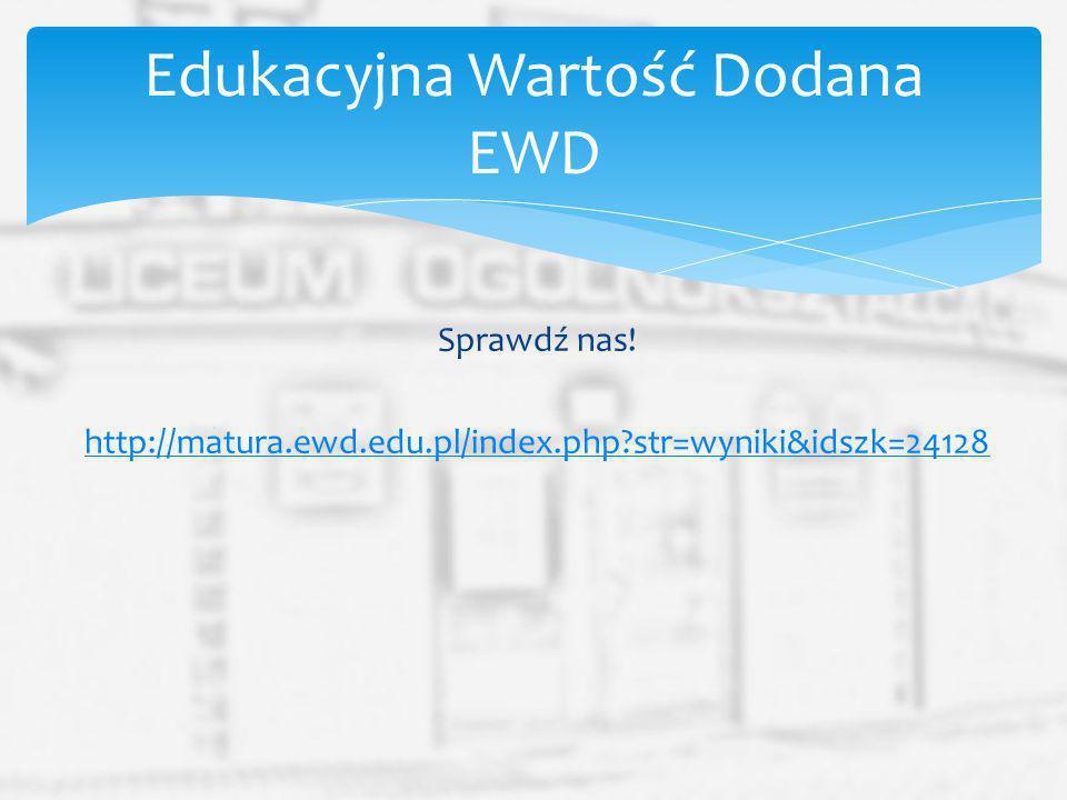 Edukacyjna Wartość Dodana EWD