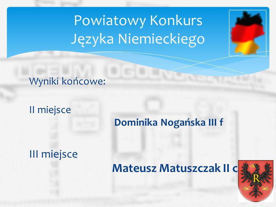 Powiatowy Konkurs Języka Niemieckiego
