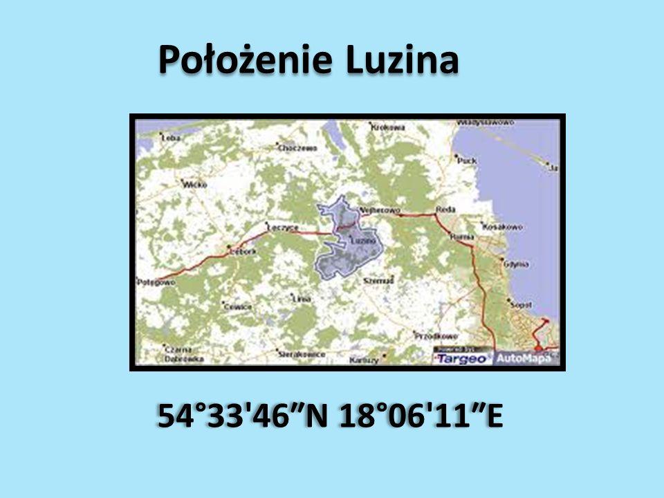 Położenie Luzina 54°33 46″N 18°06 11″E