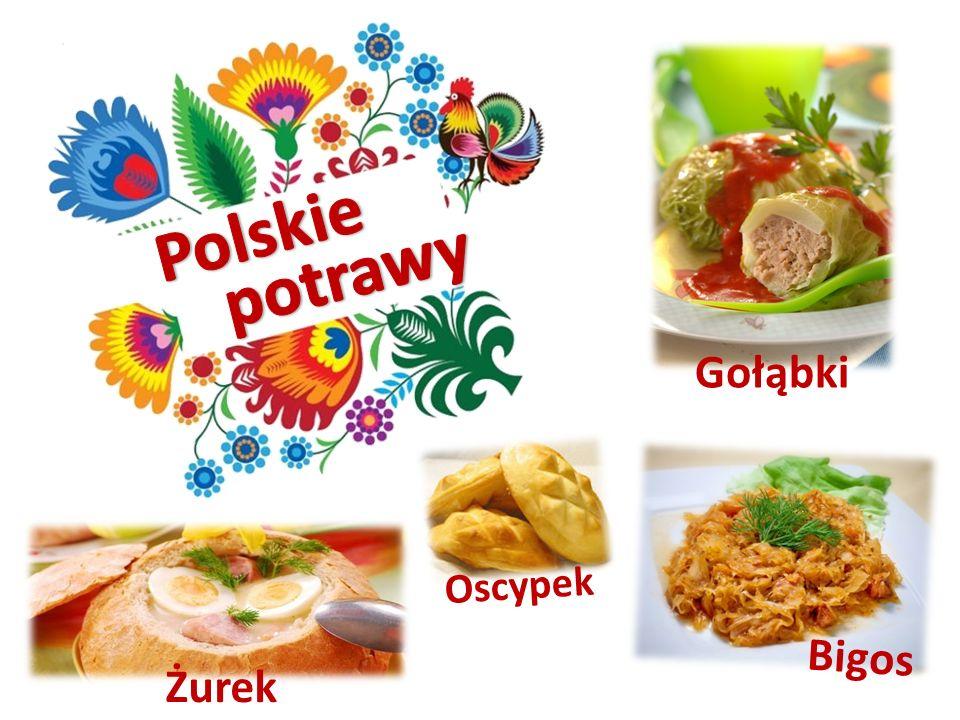 Polskie potrawy Gołąbki Oscypek Bigos Żurek