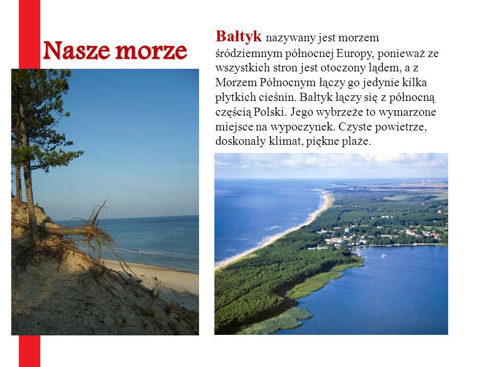 Bałtyk nazywany jest morzem śródziemnym północnej Europy, ponieważ ze wszystkich stron jest otoczony lądem, a z Morzem Północnym łączy go jedynie kilka płytkich cieśnin. Bałtyk łączy się z północną częścią Polski. Jego wybrzeże to wymarzone miejsce na wypoczynek. Czyste powietrze, doskonały klimat, piękne plaże.