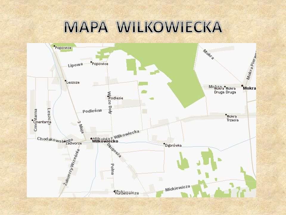 MAPA WILKOWIECKA
