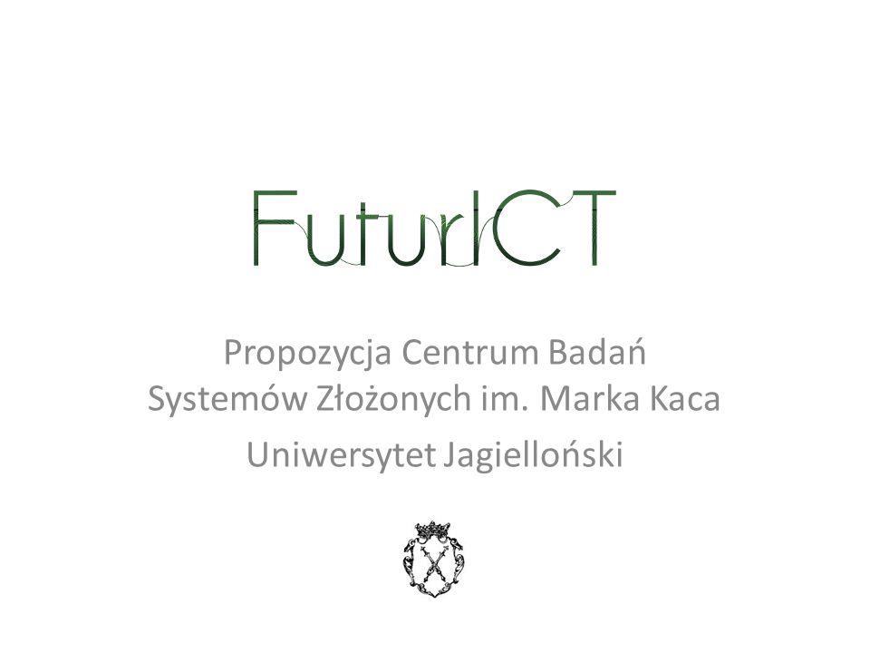 Propozycja Centrum Badań Systemów Złożonych im. Marka Kaca