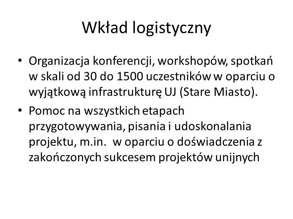 Wkład logistyczny