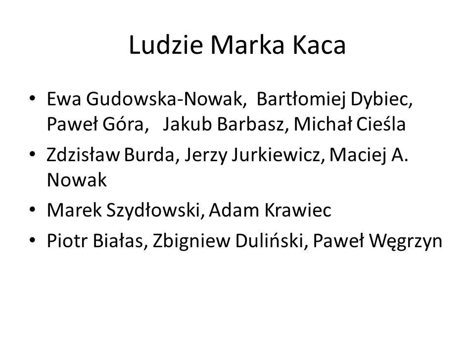 Ludzie Marka Kaca Ewa Gudowska-Nowak, Bartłomiej Dybiec, Paweł Góra, Jakub Barbasz, Michał Cieśla.