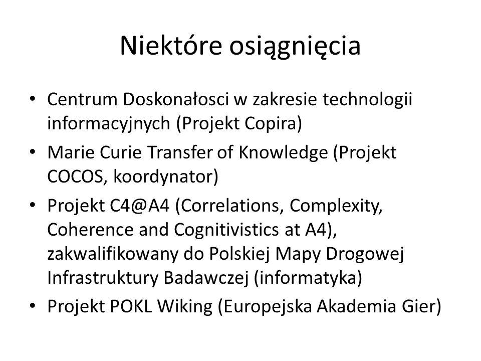 Niektóre osiągnięciaCentrum Doskonałosci w zakresie technologii informacyjnych (Projekt Copira)