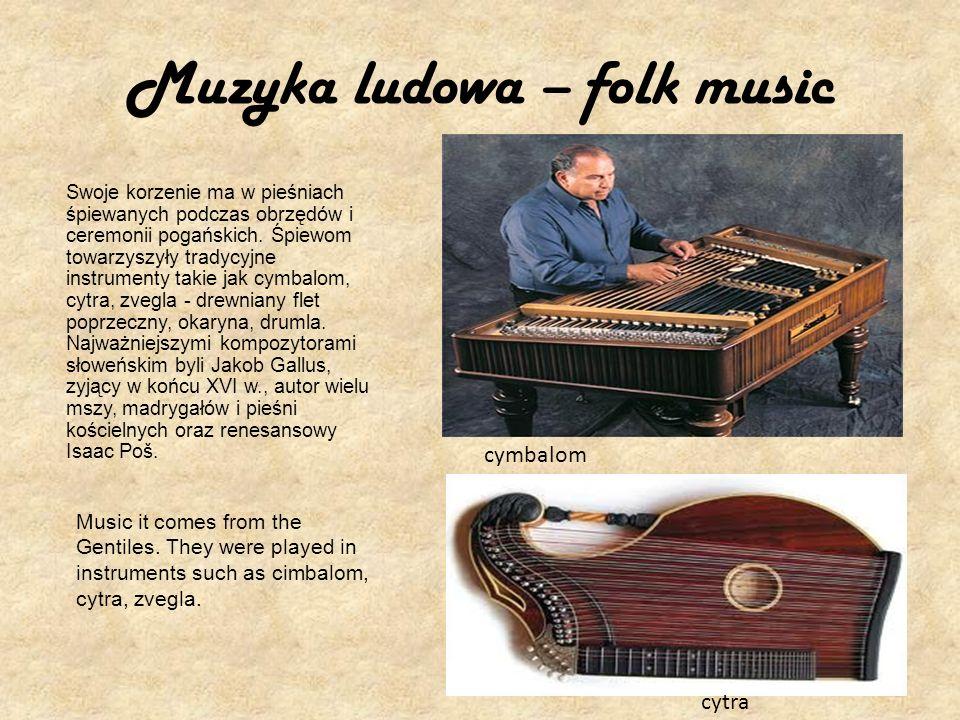 Muzyka ludowa – folk music
