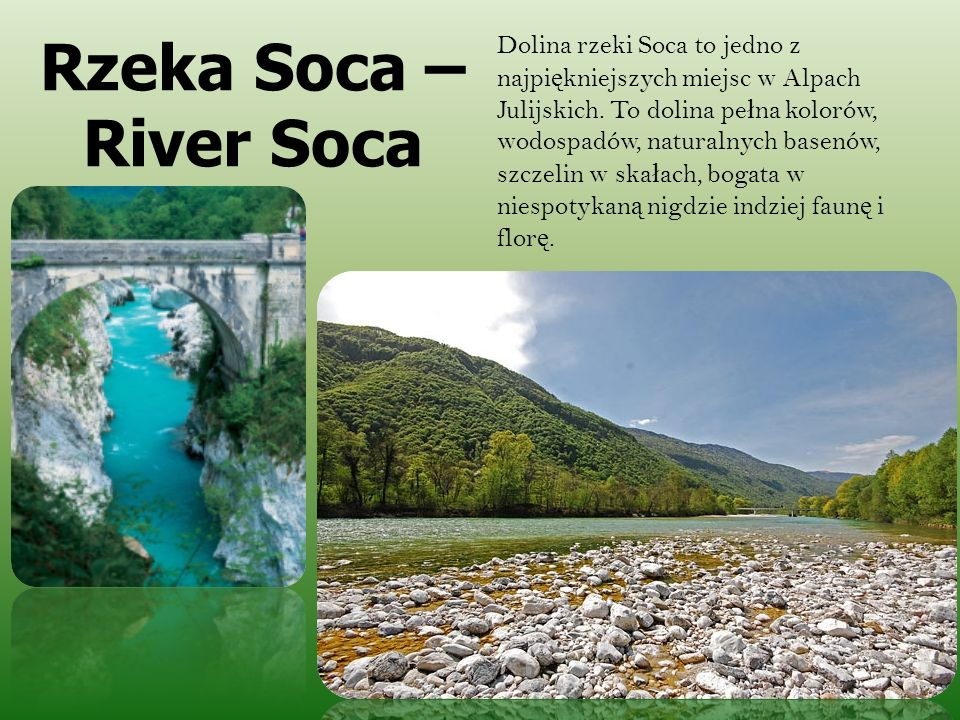 Rzeka Soca – River Soca