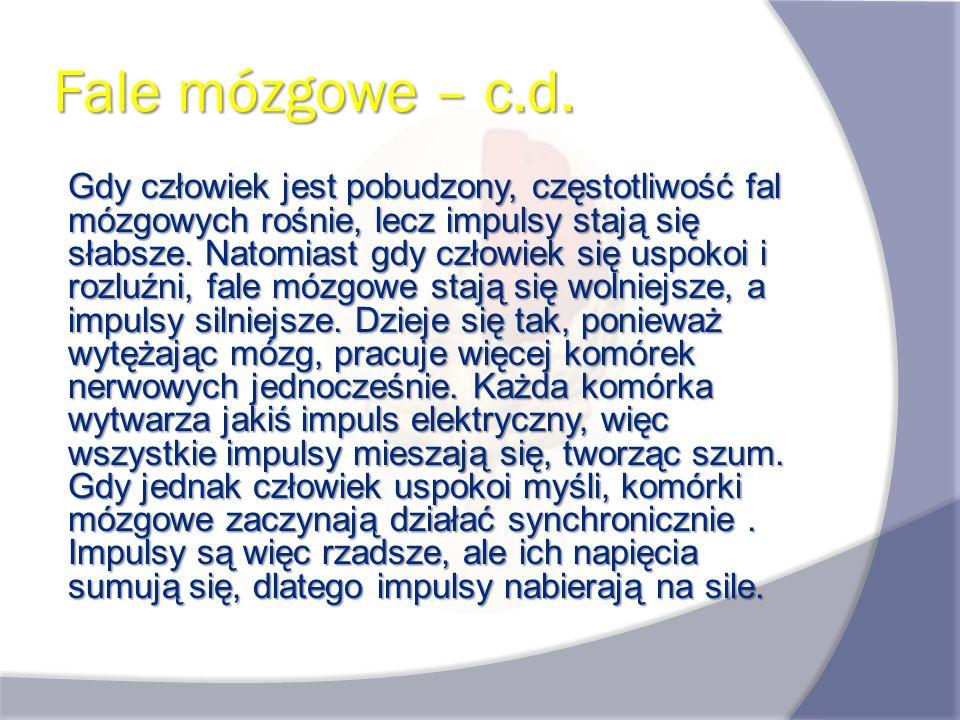 Fale mózgowe – c.d.