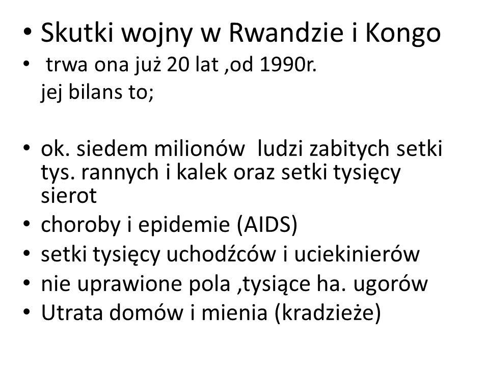 Skutki wojny w Rwandzie i Kongo