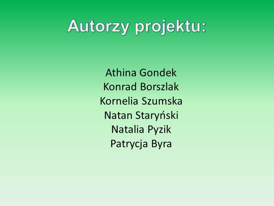 Autorzy projektu: Athina Gondek Konrad Borszlak Kornelia Szumska Natan Staryński Natalia Pyzik Patrycja Byra
