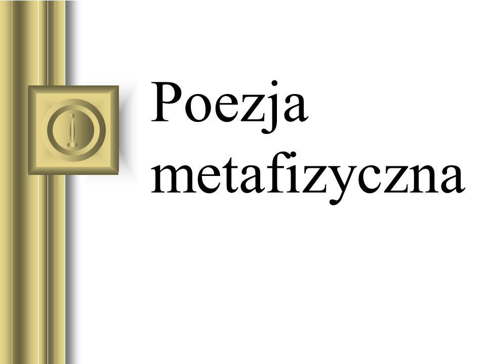 Poezja metafizyczna