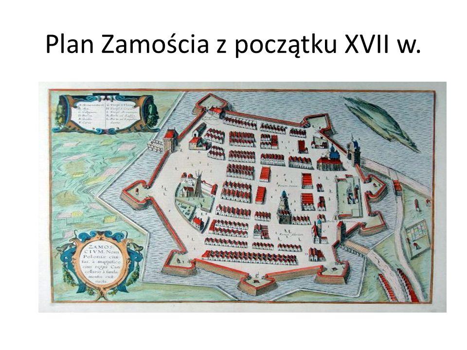 Plan Zamościa z początku XVII w.