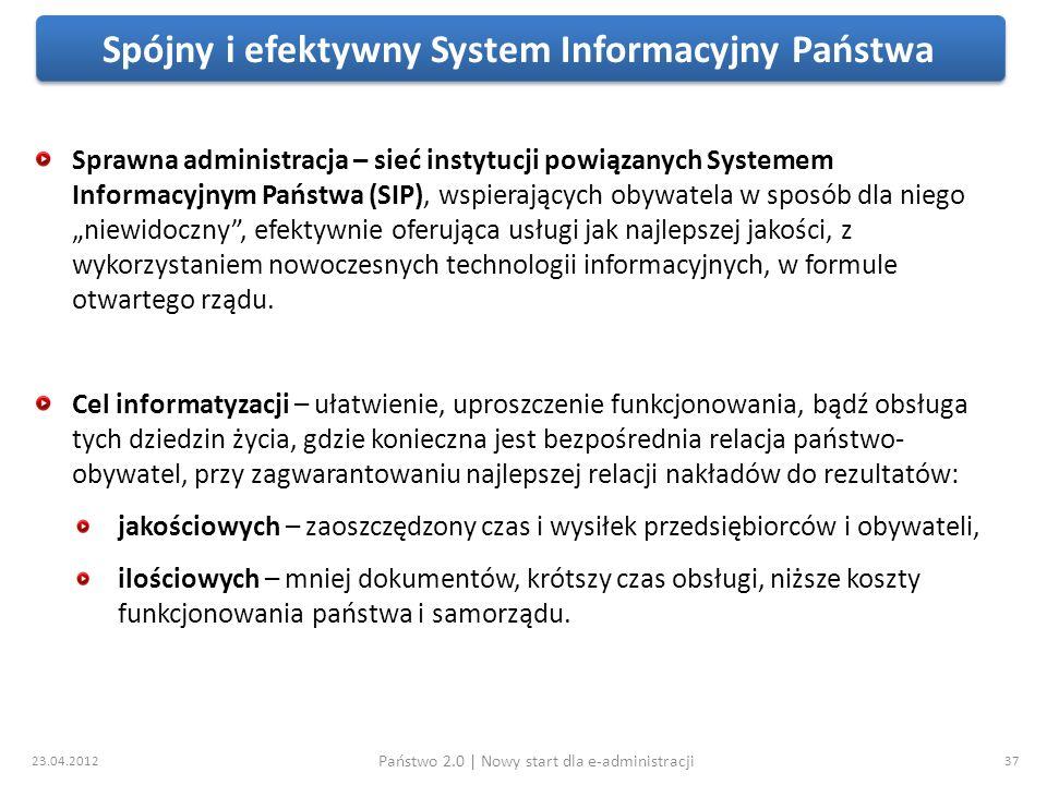 Spójny i efektywny System Informacyjny Państwa