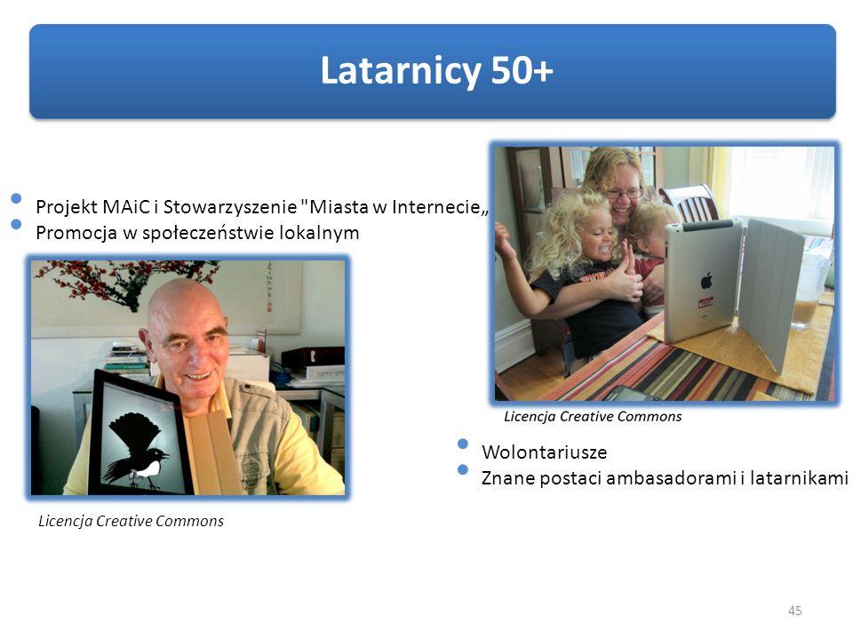 """Latarnicy 50+ Projekt MAiC i Stowarzyszenie Miasta w Internecie"""""""