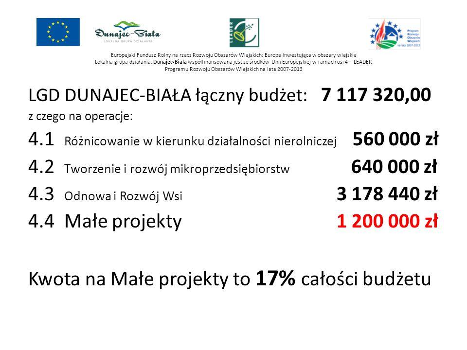 4.1 Różnicowanie w kierunku działalności nierolniczej 560 000 zł