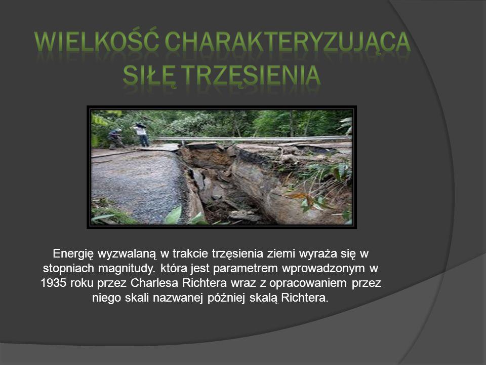 Wielkość charakteryzująca siłę trzęsienia