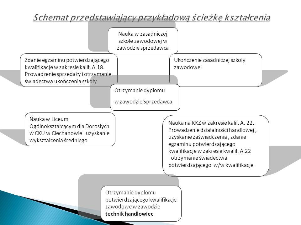 Schemat przedstawiający przykładową ścieżkę kształcenia