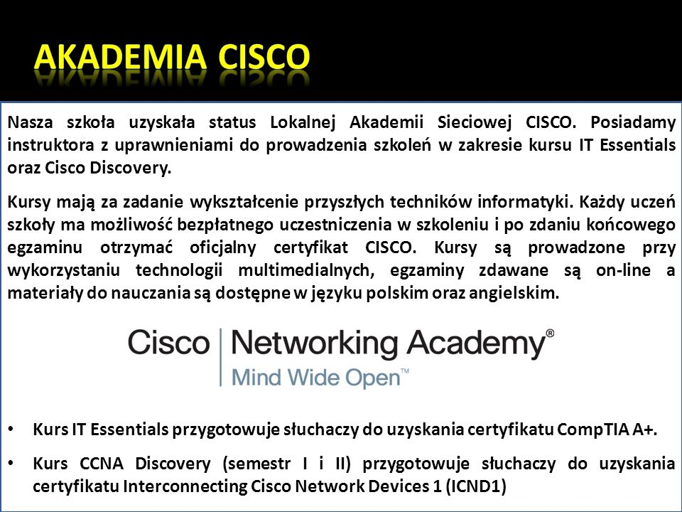AKADEMIA CISCO
