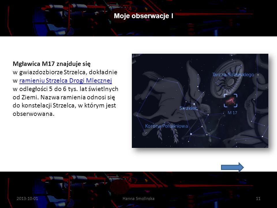 Mgławica M17 znajduje się w gwiazdozbiorze Strzelca, dokładnie