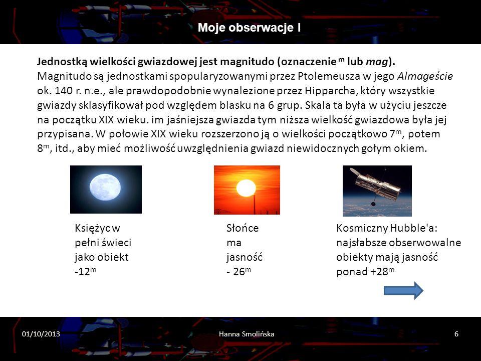 Księżyc w pełni świeci jako obiekt -12m Słońce ma jasność - 26m