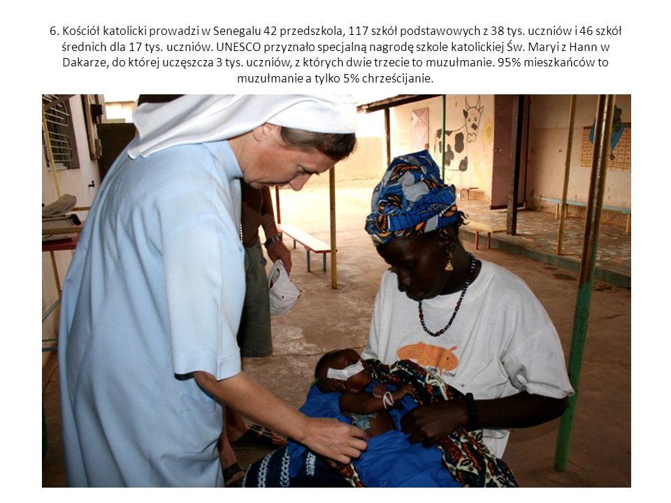 6. Kościół katolicki prowadzi w Senegalu 42 przedszkola, 117 szkół podstawowych z 38 tys.