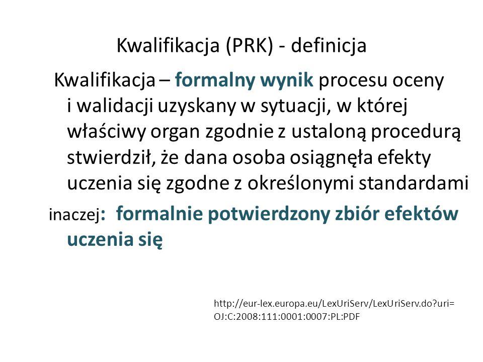 Kwalifikacja (PRK) - definicja