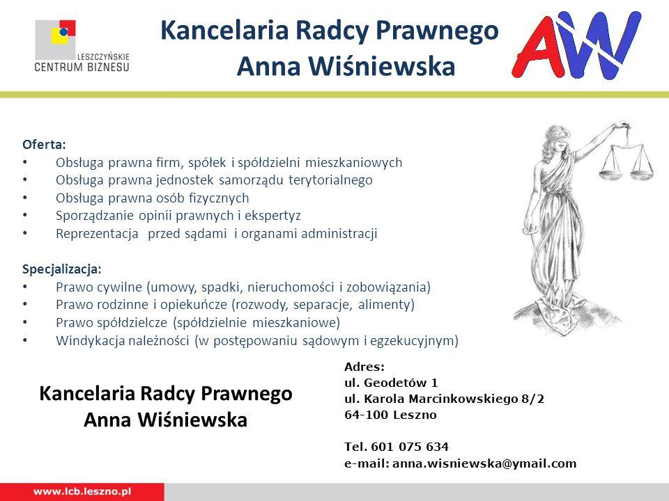 Kancelaria Radcy Prawnego Anna Wiśniewska
