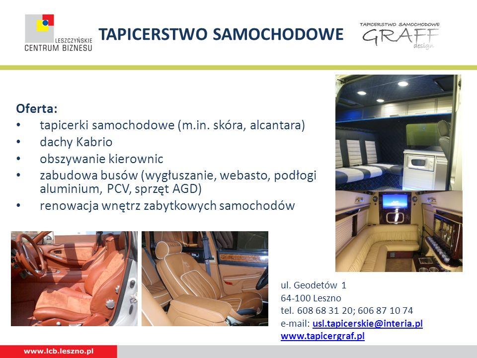 TAPICERSTWO SAMOCHODOWE