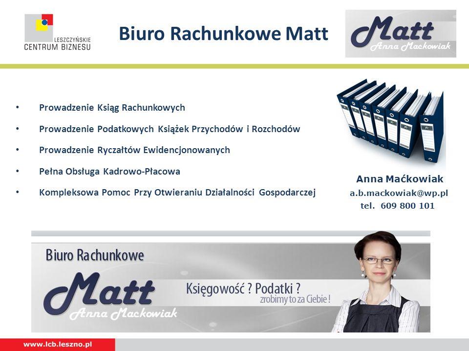 Biuro Rachunkowe Matt Prowadzenie Ksiąg Rachunkowych
